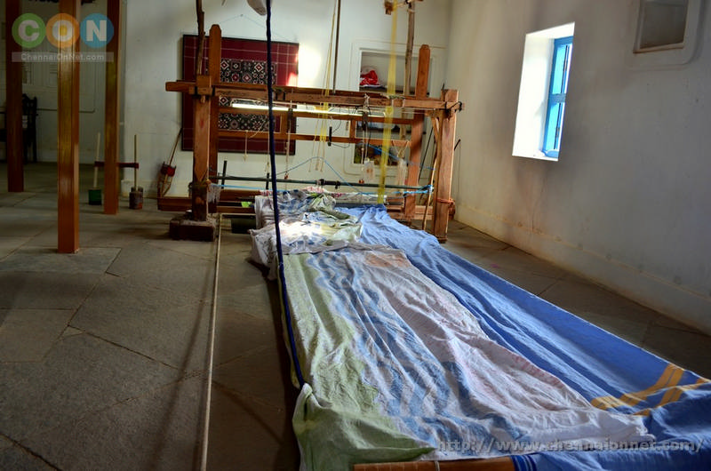 Inside Andra style Weavers house at DakshinChitra or DakshinaChitra Chennai