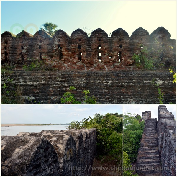 Outer walls surrounding the fort at Alamparai Fort in ECR Road.