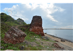 Eastern side of the Fort with Backwaters at Alamparai Fort in ECR Road.