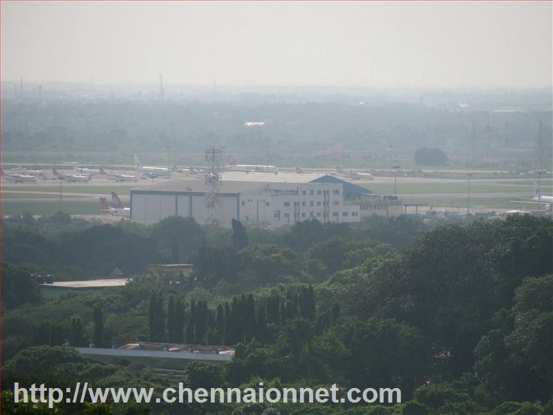 Chennai airport from St Thomas Mount