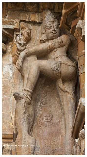"A close up of the"" Dwarapala"" or the Door Keeper."