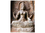 A magnificent piece of architecture of Goddess Saraswathi - the Goddess of Learning or Knowledge.