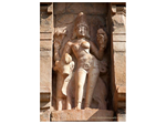 An exceedingly beautiful piece of architecture depicting Shiva in the Ardhanreeshwara form - half man and half woman i.e. representing both the male and female energies.