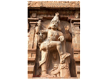 "A statue of a ""Dwarapalaka"" or a male Gate Keeper in hard rock and at least 8 feet tall. A gigantic statue, imposing and awesome. They are huge, muscular and fearsome"