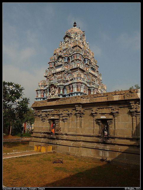 Gopuram of main Shrine, Gnayiru temple.