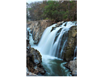 Majestic view of the waterfalls at Hogenakkal falls.