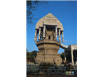 The Ther(Temple Chariot) like monument at Valluvar Kottam.