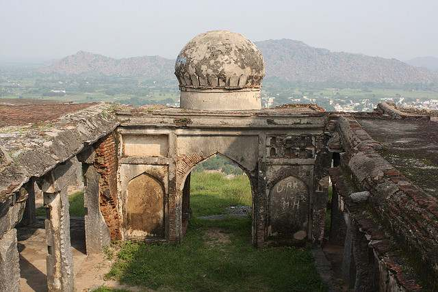 A view of mosque in the hillock at Gingee Fort or Senji Fort or Chenji Fort.