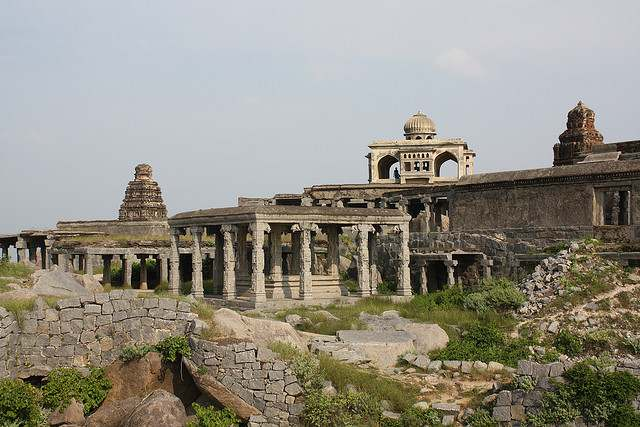 The temple, marriage hall at Gingee Fort or Senji Fort or Chenji Fort.