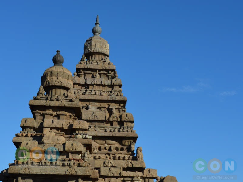 Shore temple towers