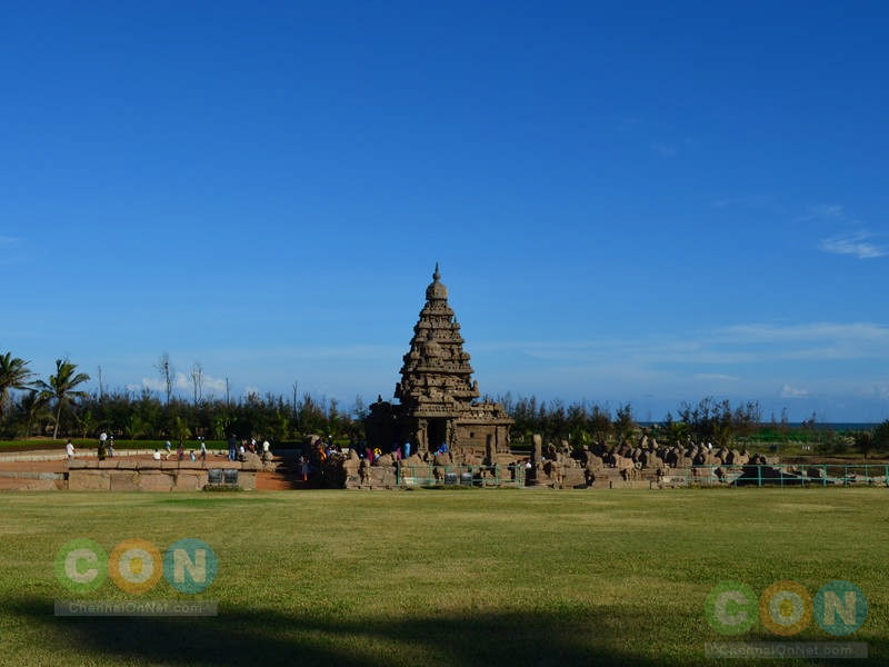 Front view of Shore temple