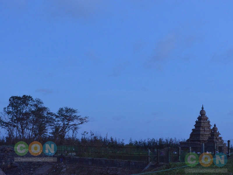 Shore temple view at twlight