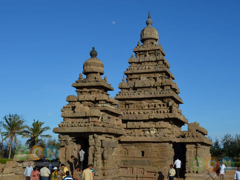 Shore temple and people visiting