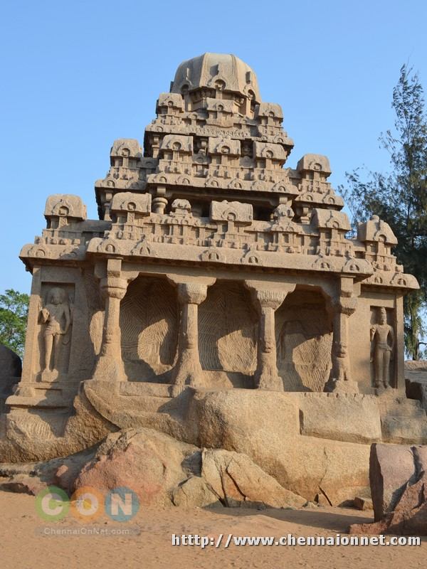 Dharmaraja ratha side view